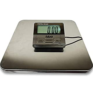 Futura 100Kg Heavy Duty Digital Shipping Parcel Scales, Multi-Purpose Weighing Scales, Large Stainless Steel Weighing Platform, Luggage Scales