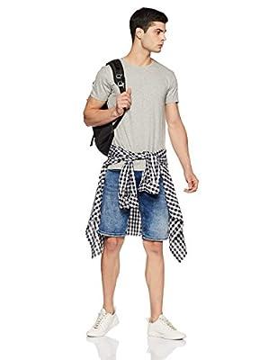 Jack & Jones Men's Quilted Slim Fit T-Shirt