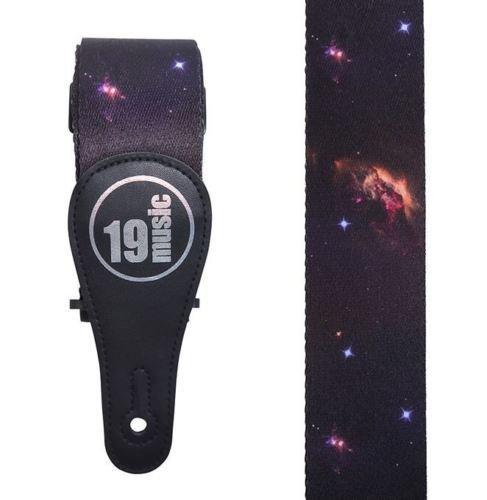 Premium Qualität Weicher Touch bequemer Mehrfarbig Infinite Astronomische Galactic Cosmic Interstellare Dark Deep Weltall Planeten Cosmos Cosmic Weltraum Sterne Stars Stellar Galaxy Akustische Elektrische Bassgitarre Verstellbare Schulter Gitarrengurt (Rock Galaxy Vintage)