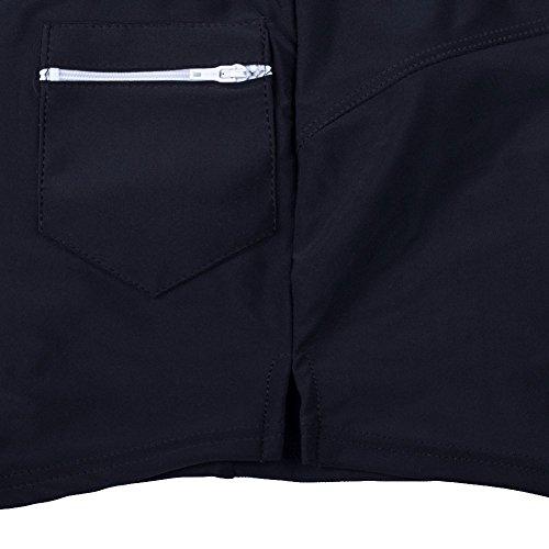 iisport �?Costume da Bagno Uomo Elastico con Taschino e Coulisse a Vita Bassa Slim , per Nuoto Spiaggia Mare Piscina Sport Slip Pantaloncini Calzoncini Mutande Nero