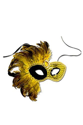 Maske Golden Eye mit Federn (Bond Goldeneye Kostüm James)
