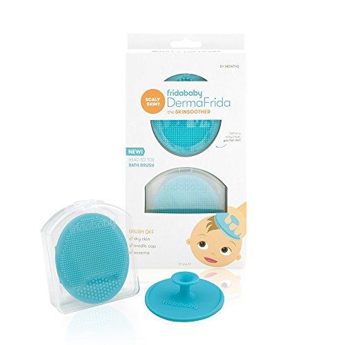 Fridababy Silikon-Bürste für Baby-Badewanne, DermaFrida für trockene Haut, Wiegenhaube und Ekzeme, 2 Stück - Juckende Haut Badewanne