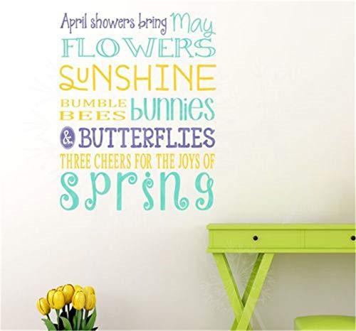 wandaufkleber glitzer wandaufkleber kreise April Duschen bringen Mai Blumen Sonnenschein für Wohnzimmer