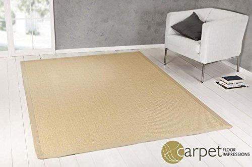 Sisal Küchen Teppich brasilien MIT TARA CARE (007002 natur Bodüre natur,(11) 150X150 cm)