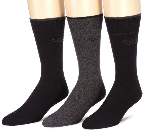 camel active Herren Socke 3 er Pack 6590X socks box 3 Paar, Gr. 39-42, Schwarz (black - 610)