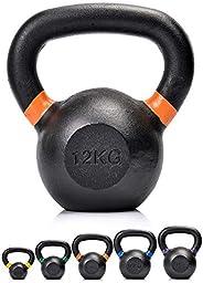 Kettlebell - Manubri con Maniglia - Ginnastica Fitness ABS Allenamento Esercizi Bollitore Peso Palestra Domest