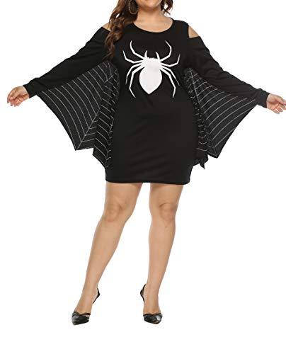 Für Halloween Einzigartige Damen Kostüm Ideen - Grace's Secret Damen Halloween-Kostüm, Übergröße, Halloween-Kostüm, Partykleid, XL - 4XL - Schwarz - 12/14 US X-Large