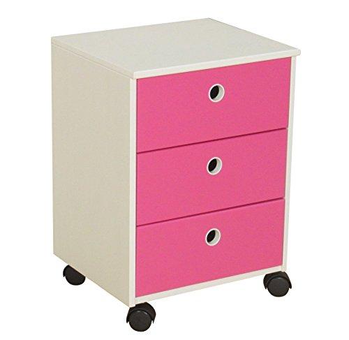 Dynamic24 Flexa Schubladen Kommode Anton Kiefer Kinderzimmmer Schrank Möbel weiß pink