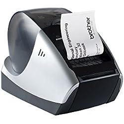 Brother P-touch QL570 Étiqueteuse USB 2.0 Noir/argent