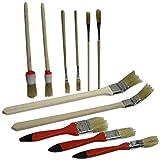 Maler Pinsel SET 11 tlg, Chinaborste zum Malen und Streichen, Rund Flach Pinsel (LHS)