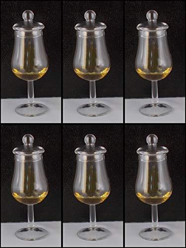 6 Whisky Gläser Form Signatory mit Glasdeckel ohne lästige Werbung im Karton, versandkostenfreie Lieferung