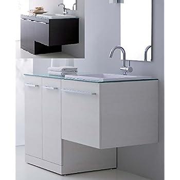 Mobile arredo bagno vip disp in 10 colori con porta lavatrice coprilavatrice piano in cristallo - Mobile lavabo lavatrice ...