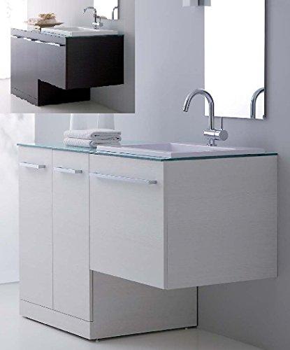 Arredo bagno in 10 colori con mobile con copri lavatrice lavabo ceramica porta lavatrice coprilavatrice l