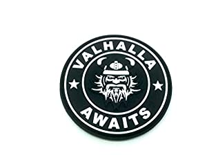 Valhalla Awaits Viking Noir PVC Airsoft Patch