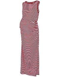 Cinnamou Regalo de Mamá Embarazada Vestido Maxi Modal sin Mangas de Las Mujeres sin Mangas Vestido