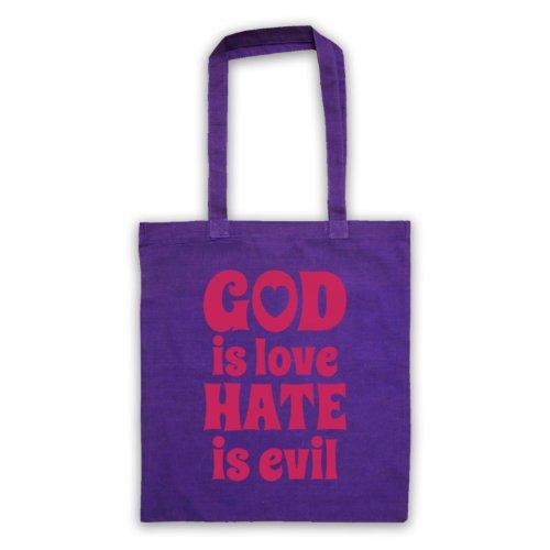 God Is Love Hate è Evil-Borsa, motivo: aforismi [lingua inglese] Viola