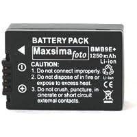 Batterie DMW-BMB9 1250mAh Par Maxsima Pour Panasonic Lumix DMC FZ150 FZ100 FZ72 FZ70 FZ62 FZ60 FZ45 FZ40 FZ48 FZ47 BMB9 BMB9e