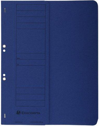 Exacompta 351607B Ösenhefter (Recycling-Karton, halbem Vorderdeckel Beschriftungsfeld, DIN A4) dunkelblau