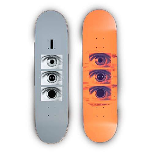 Herren Skateboard Deck (Favorite Herren Skateboard Deck Tripping Orange Deck, Größe:8.125, Farben:neon orange)