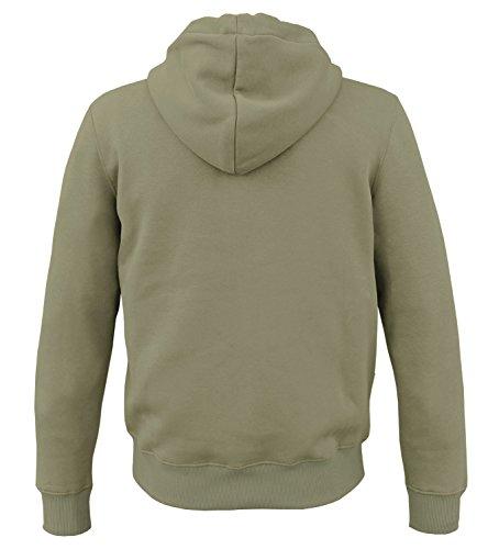 Alpha Ind. Basic Zip Hoody Kapuzen Sweater Oliv