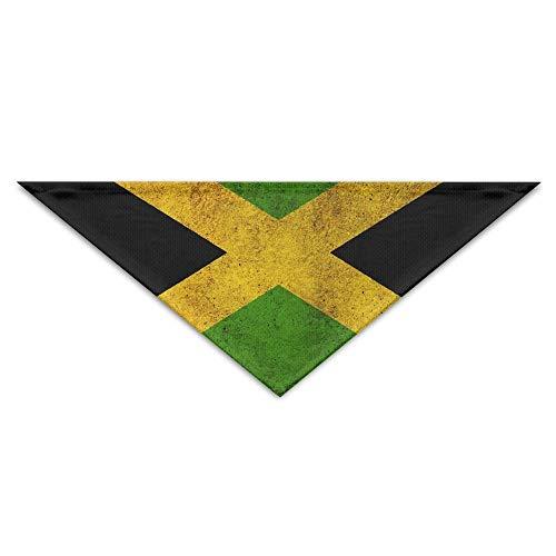 ne Jamaika Grunge Country Flag Printing Polyesterfaser 100% Pet Schals Zubehör einstellbar für alle Größen Hunde Katzen Haustiere ()