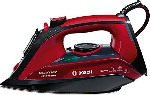 Bosch TDA503001P Dampfbügeleisen Sensixx\'x EditionRosso (3000 Watt max, Dampfstoß 200 g/min, Dampfleistung 45 g/min, CeraniumGlissée Bügelsohle) rot