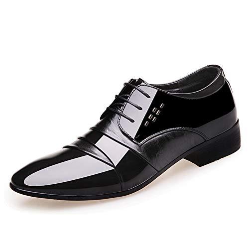 Qianliuk Oxford Schuhe für Männer Büro Schuhe Lackleder Business Kleid Schuhe Männer Wohnungen Derby ()