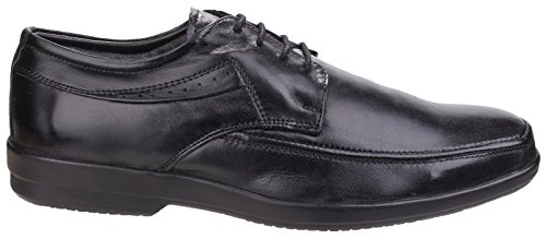 Fleet & Foster Dave Mens Apron Toe Oxford Formal Shoes Schwarz