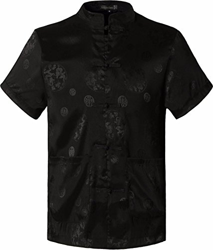 jeansian-herren-fashion-casual-chinese-traditional-short-sleeves-tang-shirt-cardigan-tops-l900-black