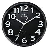 Plumeet Grande Horloge Murale DE 33 cm, Horloges Décoratives silencieuse en Quartz,...