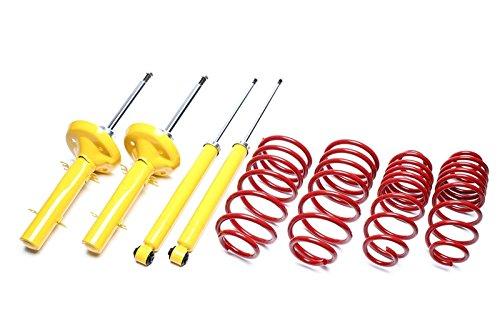 Kit suspension amortisseur + ressorts courts en -40/-40mm pour - série 3 E30 de 11/1982 à 01/1991 pour jambes de force en 45mm, uniquement 6 cylindres sauf 4 roues motrices