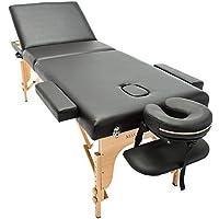 Massage Imperial® - tragbare Profi-Massageliege Arlington - leicht 16 Kg - 3 Zonen – 3-teilig – Schwarz