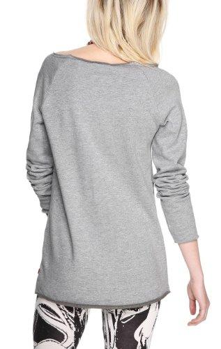 QS by s.Oliver - 49.402.41.2300 - Sweat-shirt Femme Gris (grey melange placed print)