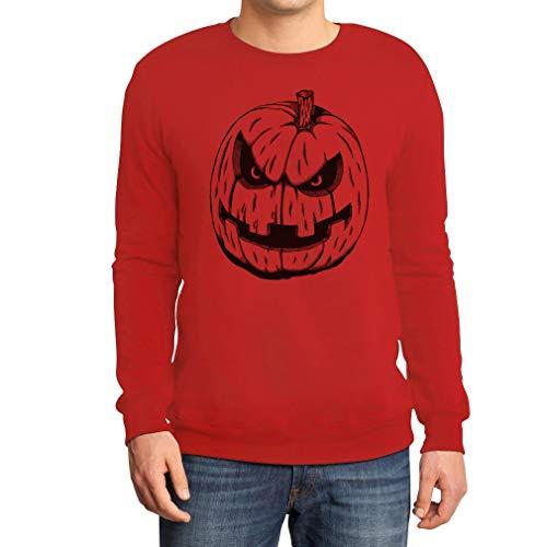 Cooles Gruseliges Halloween Kostüm Jack O' Lantern Sweatshirt Large Rot