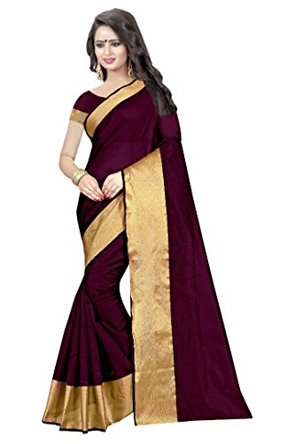 Saree (IndoPrimo Women's Latest Designer Party Wear New Collection Cotton Bollywood Embroidered Latest Saree Collection 2018 Saree for Women with Bangalore Silk Unstitched Blouse)  available at amazon for Rs.299