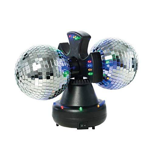 Disco Twin 10 cm rotierende 32 LED Multicolor Spiegel Ball Party Geburtstag Disco Lichter Nachtclub Effekte