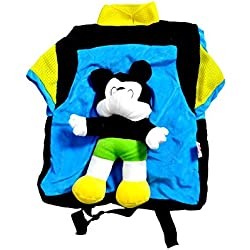 Angel Soft Toys Cute Soft Toy Play School Bag for Kids/Picnic Bag in Wonderful Colours in a Shirt Type Bag.