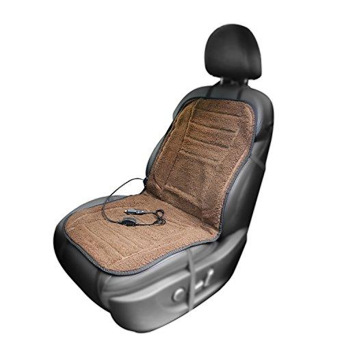 AFTERPARTZ H-W45-Coffee Auto Sitzheizung Kfz Beheizbare Sitzauflage 12 V Kaffee Farbe, Braun
