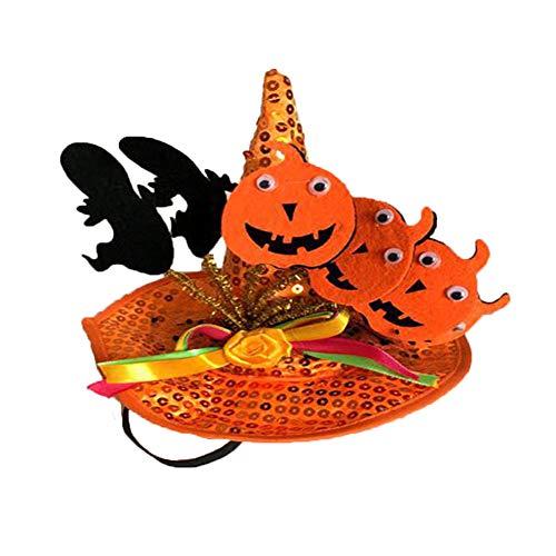 Kostüm Hunde Pumpkin - Z-prodigue Halloween-Kostüm, Haustier-Kostüm, für kleine Hunde, orange Cap Pumpkin