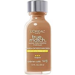 L'Oréal - Fond de Teint Fluide - True Match - N° W8 Crème Café