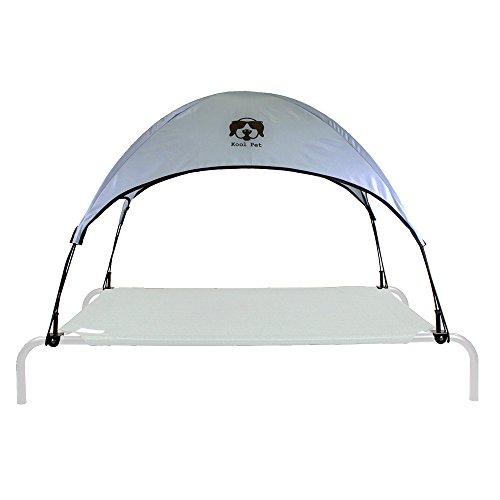Everything Summer Camp Hundebett/Sonnendach mit Adapter - passend für große Coolaroo & Amazon Basics Erhöhte Haustierbettrahmen