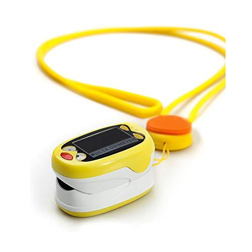 Wlehome Kinderpulsoximeter Fingerspitze, Herzmonitor, Blutsauerstoffsättigungssensor Sp02, LED-Anzeigefunktion, für Läufer, Radfahrer, Wanderer, Piloten, Taucher, Trainer,Gelb