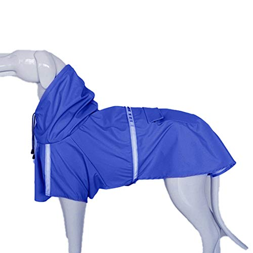 GWELL Hund Regenjacke Wasserdichte Hundejacke Reflektierende Regenmantel Funktionsjacke für Großen Hund Blau XL