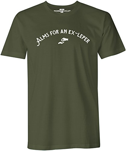 Alms For An Ex-Leper - Herren Monty Python Quote T Shirt Militärgrün