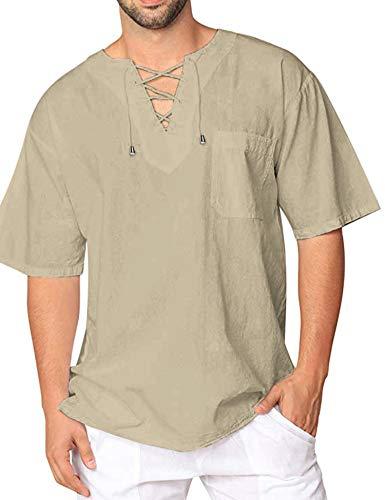 0f36d040aa9ab3 JINIDU Mens Fashion T Shirt Cotton Tee Hippie Shirts Short Sleeve Beach  Yoga Top