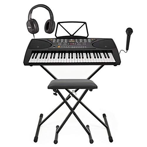 MK-3000 Keyboard mit Leuchttasten von Gear4music - Komplettpaket