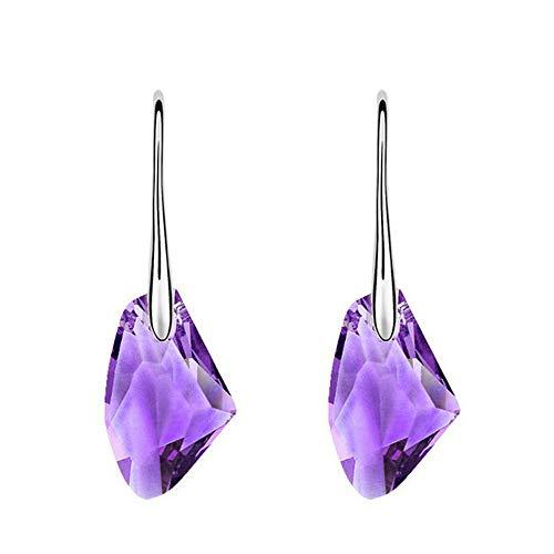 Qiuday Jugendstil Ohrringe mit Kristalle von Mode Neue Kristall Strass Österreichischen kristall Ohrringe Ohrstecker Für Frauen Damen Ohrringe Ohrhänger Tropfen Anhänger