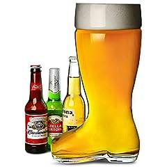 Idea Regalo - Bar@drinkstuff Bierstiefel Boccale gigante di birra a forma di stivale, da 5pinte, Oktoberfest, ideale anche come secchiello per il ghiaccio