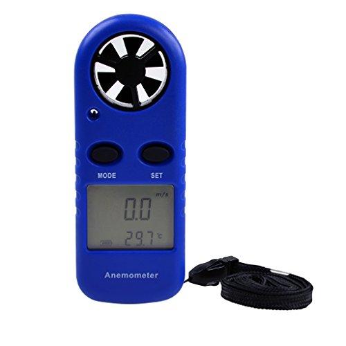 H HILABEE LCD Anemometer Thermometer Windgeschwindigkeitsmessgerät Wetterstation