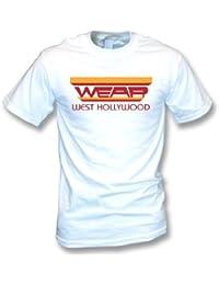 Lleve, el medio del oeste de la camiseta de Hollywood (según lo llevado por Freddie Mercury de la reina), coloree el blanco